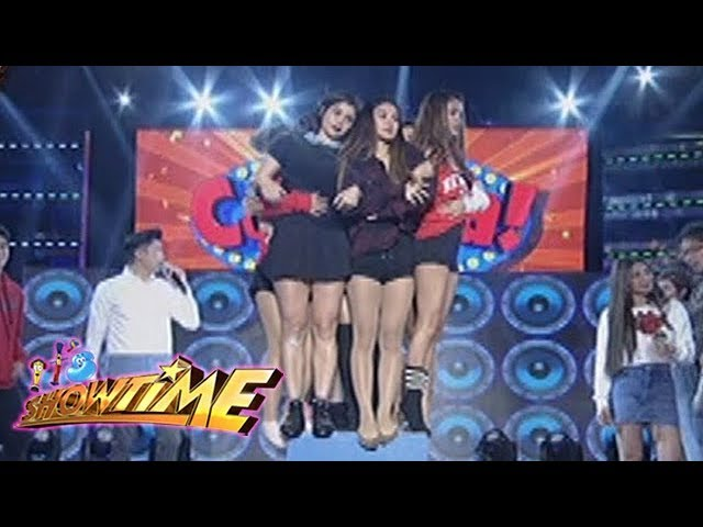 It's Showtime Cash-Ya: Team Nadine tries to fit in one apple box