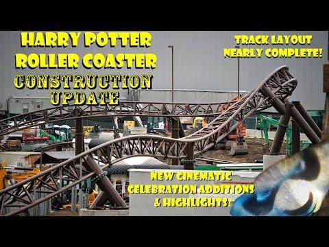Universal Orlando Resort  Potter Coaster Construction Update 7.17.18 Layout Nearly Done!