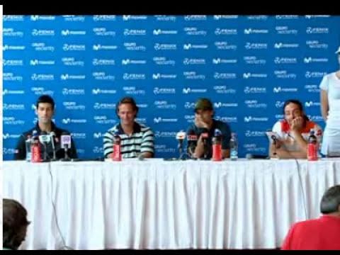 Chascarro de Rafael Nadal hablando en inglés en Chile. Bloopers