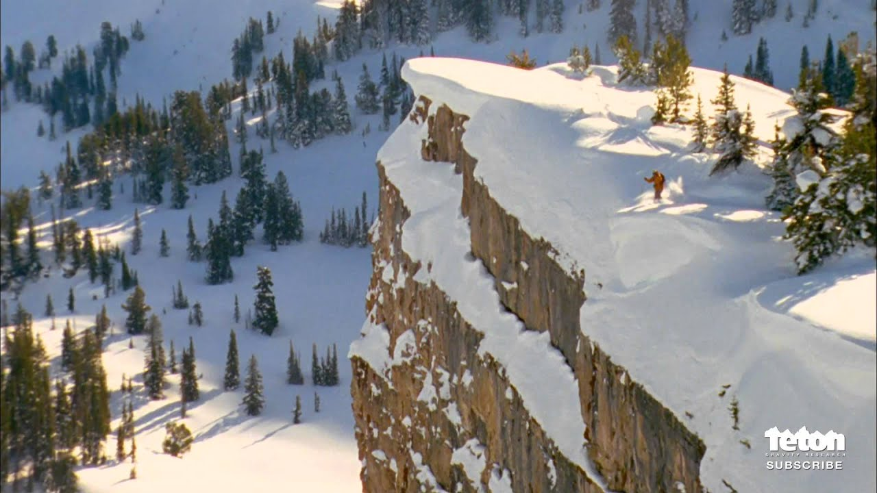 World Record Ski Jump 255 Foot Cliff Youtube