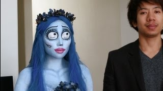 Life Is Dead - Emily (Corpse Bride) Halloween Make-up Look 1