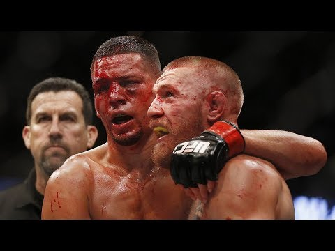 Conor McGregor and Nate Diaz Being RESPECTFUL to Each Other