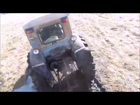 Трактор Т-40М! Вывозим пасеку в разлив