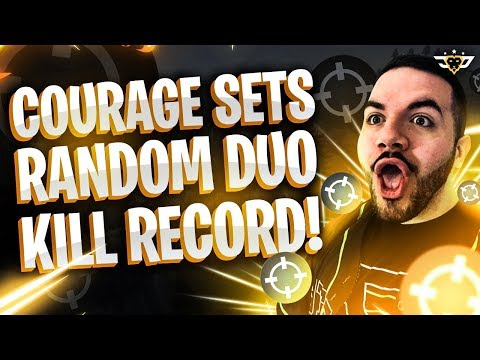 """COURAGE SETS RANDOM DUO KILL RECORD?! PLAYING WITH THE """"HACKER"""" (Fortnite: Battle Royale)"""