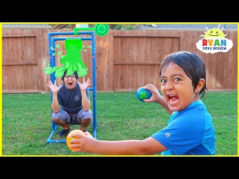 Splash Dunk Tank Challenge Family Fun Activities with Ryan ToysReview!!!