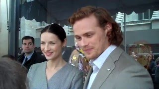 Outlander & Saks Interview with Sam Heughan and Caitriona Balfe