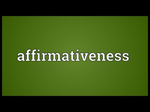 Header of Affirmativeness