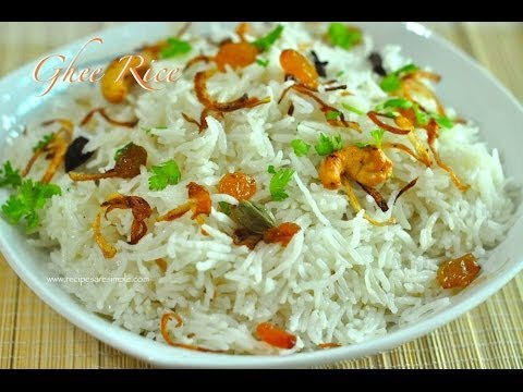 Perfect Ghee Rice Made in Rice Cooker