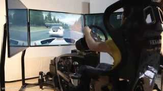 Vesaro Quad Motion Triple Display Racing Simulator