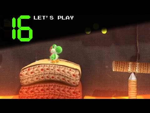 Let's Play Yoshi's Woolly World! | 16: Out of the Frying Pan, Into the Volcano