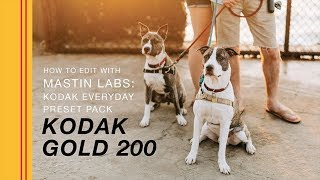 How to Edit with Mastin Labs - Kodak Everyday Original Presets  | Kodak Gold 200