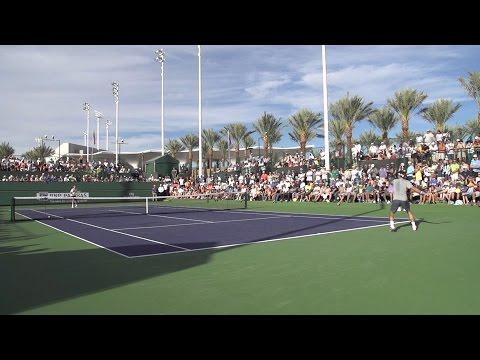 Tennis - Federer Slow Motion Groundstroke Rally