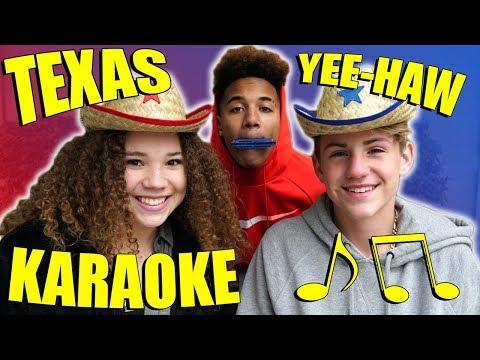 Texas Karaoke!  MattyBRaps & Madison Haschak Vs... Justin?