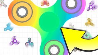 WORLD'S LARGEST FIDGET SPINNER!   *WORLD RECORD*   Slither.io With Fidget Spinners   Spinz.io Part 2