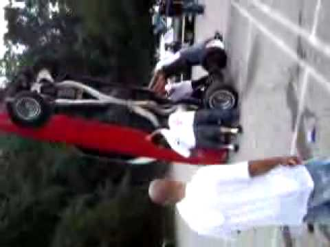 LUNATICS LOWRIDER CLUB!!!   FLIPPING A CAR!!!!