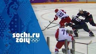 Ice Hockey - Men's Group A - USA v Russia   Sochi 2014 Winter Olympics