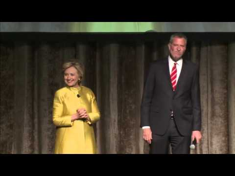 Hillary Clinton and Bill de Blasio Joke About CP Time