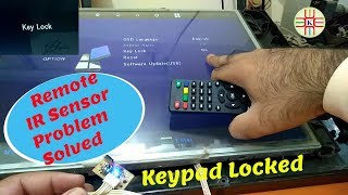 LED TV Remote Not Working and Keypad is Locked. Infrared Repair and Unlock the Keypad in Urdu/Hindi