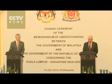 Malaysia and Singapore sign MOU on high-speed rail project