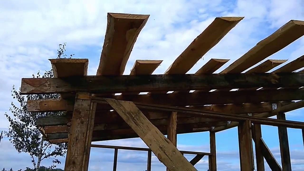 Крыша своими руками на бытовке 81