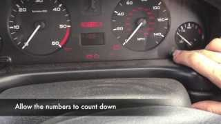 Peugeot 406 Service Reminder Reset, and Deactivation