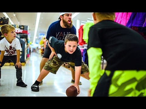 FOOTBALL IN THE GROCERY STORE!