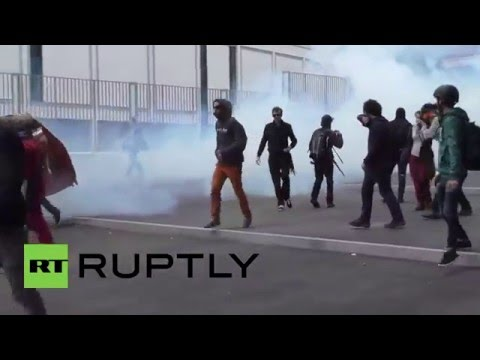 France: Tear gas fills the air during Rennes anti-police violence protest