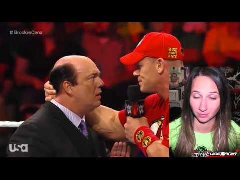 WWE Raw 9/15/14 John Cena put Paul Heyman in a HEADLOCK Live Commentary