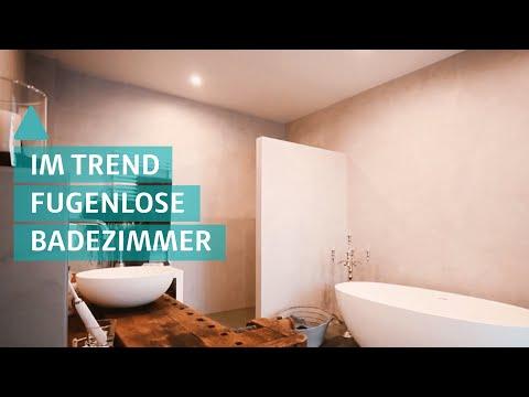 Badezimmer: Großflächiger Trend – Fugenlose Bäder