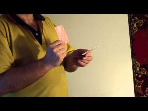 The secret of turning cards with no movement of the fingers Секрет превращения карты без движения