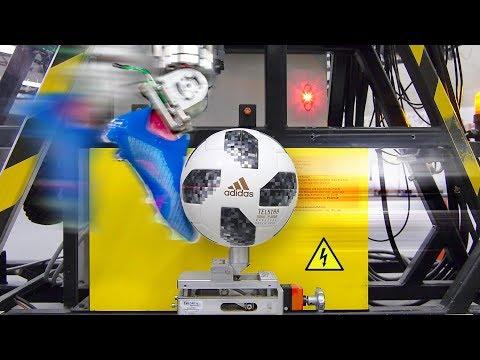 САМЫЙ ТОЧНЫЙ футбольный робот. В лаборатории Adidas.