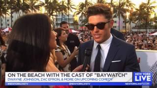 BAYWATCH Premiere with THE ROCK, Zac Efron & Priyanka Chopra