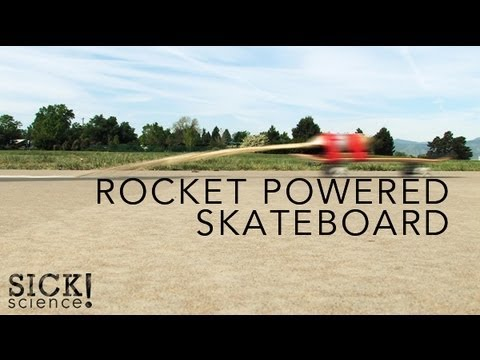 Rocket Powered Skateboard - Sick Science! #093
