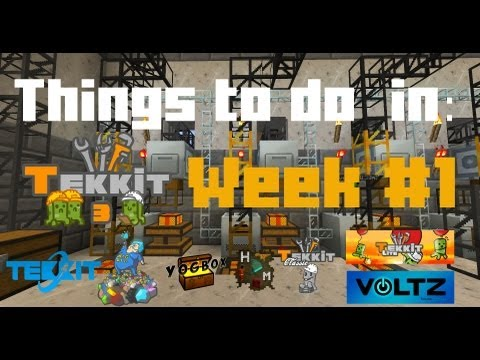 Things to do in Tekkit: Week 1