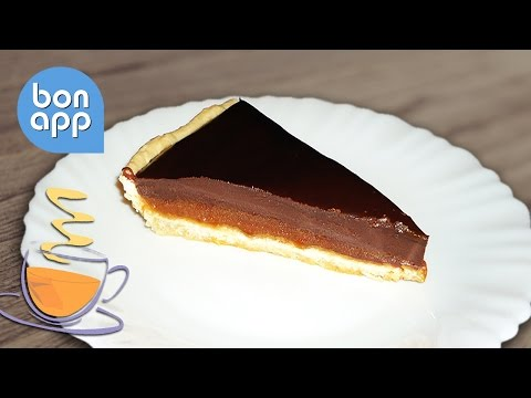 Тарт с карамелью и шоколадом