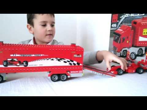 """Обзор конструктора Brick 406 """"Треллер и гоночный автомобиль Формула 1"""""""