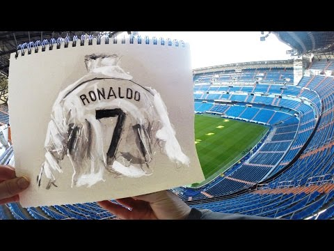 Cristiano Ronaldo Sketchbook Animation by Richard Swarbrick #BallonDraw