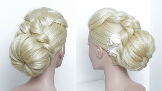 Simple Bun Hairstyle For Long Hair. Juda Party Style