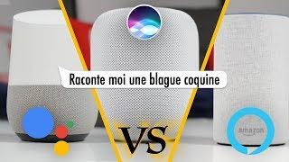 Battle d'Assistants Vocaux (Google Assistant VS Alexa VS Siri)