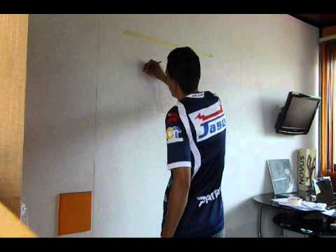 Cebra pared pintura youtube - Como pegar vinilo en pared ...