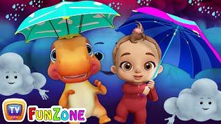 Rain Rain Go Away | Baby Songs & Dinosaur Rhymes for Kids | ChuChu TV Funzone 3D Nursery Rhymes