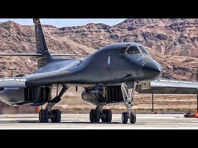 B-1B Lancer Compilation в Taxi в Takeoff в Aerial в Landing