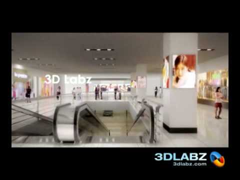 3D Walk through animation ICON shopping mall India