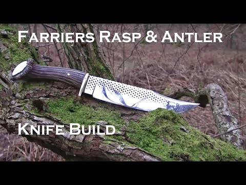 Farriers Rasp Forged Knife Part 1 video