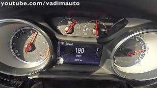 2016 Opel Astra 1.0(105PS), from 0 to190km/h