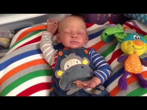Reborn baby boy bottle feeding and his name