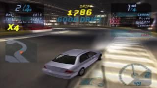 Need for Speed: Underground Gameplay Walkthrough - Mitsubishi Lancer Drift Test Drive