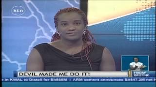 Guest anchor Awiti of Real Househelps of Kawangware KTN News studio