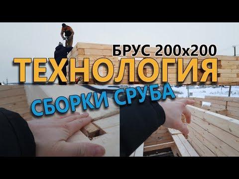 НАДЁЖНАЯ Сборка #ДОМА 8х8 из БРУСА #КАЗАНЬ