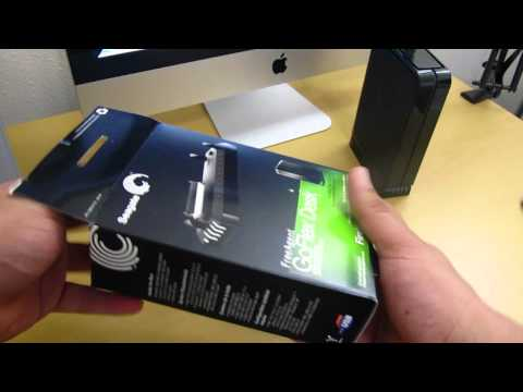 1TB FreeAgent GoFlex Desk External HardDrive/FireWire 800/usb 2.0 Adapter (Unboxing)